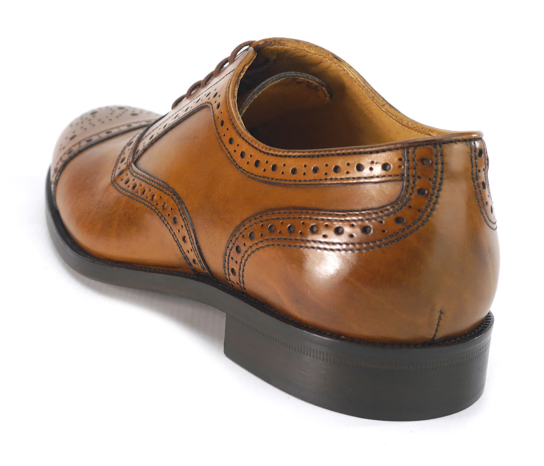 Mercanti Fiorentini Mens Lace Up All Leather Brogue Oxford Tan or Black  Shoes 6cdcc1e52ff
